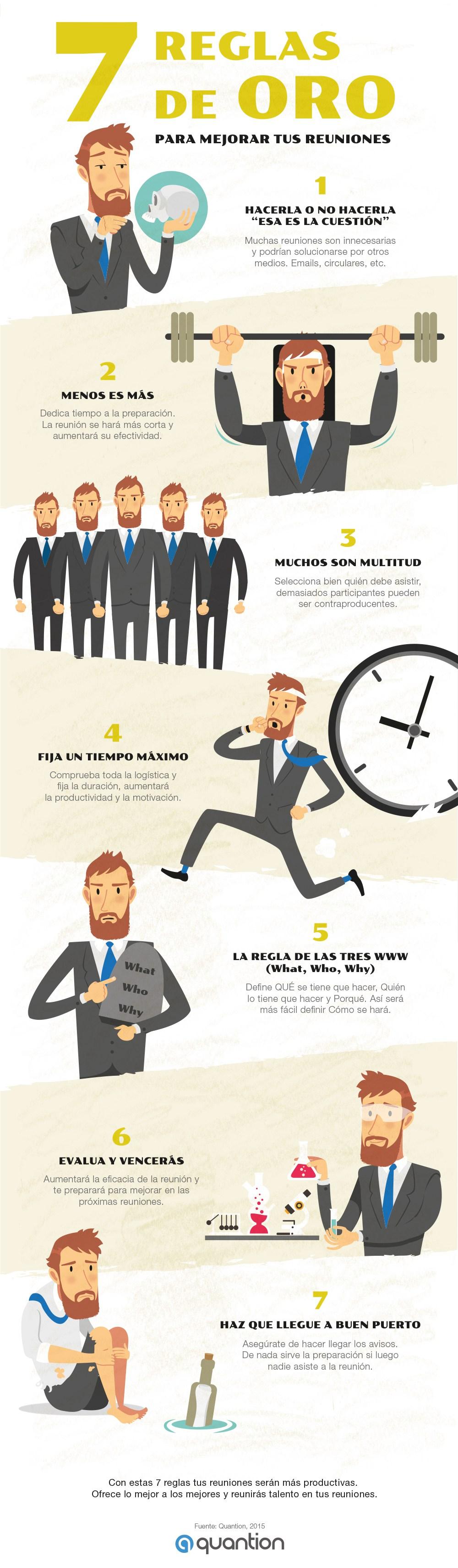 7 reglas de oro para mejorar tus Reuniones