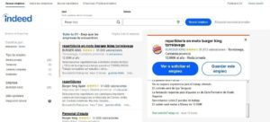 empleos de burger king en Indeed