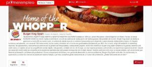 empleos de burger king en primerempleo.com