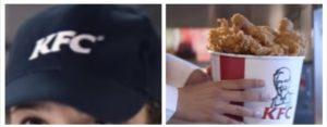 Gorra y pollo KFC