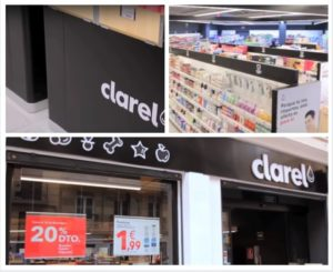Diferentes tomas de la tienda Clarel